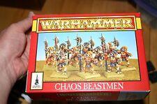 vtg Warhammer CHAOS BEASTMEN - COMPLETE SET, OOP, GAMES WORKSHOP, CITADEL, AD&D