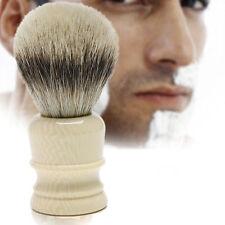 Men White Wet Shaving Brush Best Resin Handle Badger Hair For Shave Barber Salon