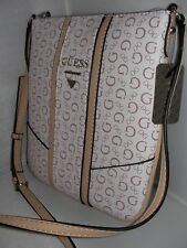 NEW GUESS LADIES MINI CROSS BODY NICHOLS BAG WHITE COLOR
