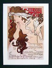 Mucha Art Nouveau Print - XV Exposition du Salon aes Cent Poster Female Muse Art