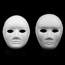 CHIC Unpainted DIY Plain/Blank Version Paper Pulp Male and Female Mask Fashion