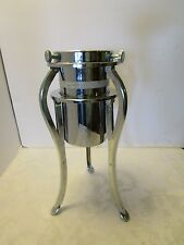 Atomic Chrome Christmas Tree Stand Xmas Tree Stand Holder mid-century Modern VTG