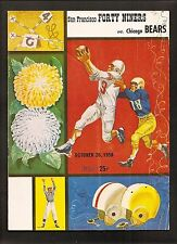 vintage 1958 SAN FRANCISCO 49ERS v CHICAGO BEARS Football PROGRAM-Blanda, Tittle