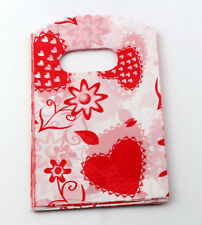Jewelry Pouches.50pcs 9X15cm Red Strawberry Plastic Bags Jewelry Gift Bag
