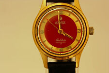 "Roamer Women's   Rare Red Dial Mechanical Mechanical Vintage watch ""- AS IS"""