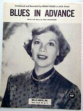 DINAH SHORE Sheet Music BLUES IN ADVANCE Hollis Publications 50's POP Vocal
