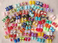 20 x Dog bows pets Grooming hair gift Pet charms mix designs Accessories #S2