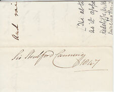 Sir Stratford Canning, British Ambassador & Diplomat, signed 1847 small piece