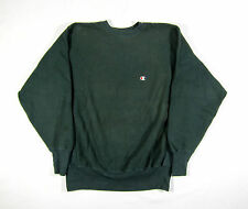 EARLY 90S VTG CHAMPION USA MADE FORREST GREEN REVERSE WEAVE SWEATSHIRT NYC RAP L