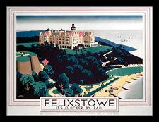 Felixstowe su más rápido por ferrocarril-Enmarcado 30 X 40 impresión oficial