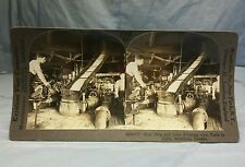 Antique Keystone Stereoview Card Beet Pulp Juice Flowing Tanks Montreal Canada