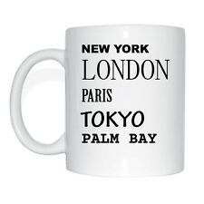 New York, London, Paris, Tokyo, PALM BAY Tasse Kaffeetasse