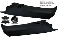 BLACK STITCH 2X REAR C PILLAR LEATHER COVERS FOR BMW E39 96-03 ESTATE TOURING