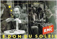 PUBLICITE   1989    RMC  RADIO  LE DON DU SOLEIL LAURENT CABROL (2 pages)