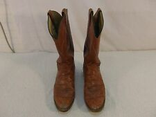 Men's Tony Lama El Paso Authentic Light Brown Leather 10 D Cowboy Boots 330
