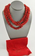 KJL QVC KENNETH JAY LANE IMITATION CORAL TORSADE NECKLACE WITH LOGO CLASP - 17""