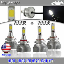 120W 12000LM Total 9005 9006 Combo LED Headlight Kit Hi-Lo Beam Light 6000K Bulb