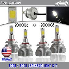 120W 12000LM Total 9005 9006 Combo LED Headlight Kit Hi-Lo Beam Light 6000K Bulb