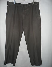 HAGGAR 36 x 30 Gray Green Expandable Elastic Stretched Waist Men Dress Pants