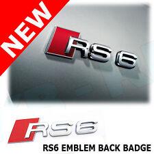 AUDI RS6 Design Retro BADGE EMBLEMA 3D Nuovo UK Venditore appiccicoso indietro