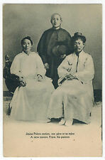 Young Korean Priest with his Parents, France, Mission issue, 1910s