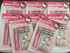 Hello Kitty 5 Pc Stationary Set Birthday Party Favors Supplies - Lot of 8