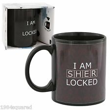 Sherlock Holmes Mug I Am Sherlocked Heat Reveal Rose Coffee Cup BBC New Mint MIB