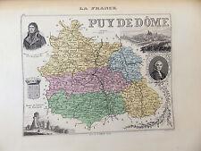LA FRANCE ET SES COLONIES DÉPARTEMENT DU PUY DE DOME EDT 1874 VOIR DETAIL