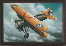 "4"" X 6"" Wooden Plaque with a Print of a Boeing P-12E WWI Pursuit aircraft ."