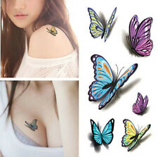 Free Temporary Tattoo Waterproof Removable 3D butterfly Stickers Body Art Tattoo