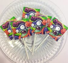 12 PLANTS VS ZOMBIES HEREOS LOLLIPOPS CANDY FOR PARTY FAVORS MADE IN U.S.A