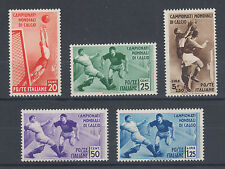 Italy Sc 324-328 MNH. 1934 2nd World Soccer Chamionship, cplt set. Sports