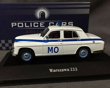 New - Atlas DieCast Model 1/43 - Warszawa 223 White Police Cars Collection Rare