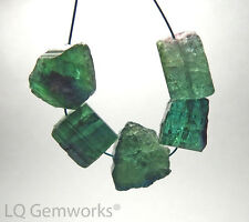 5 pcs BLUE GREEN TOURMALINE INDICOLITE 12-14mm Nugget Beads NATURAL /n13