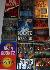 Lot of Paperback Books Novels by Dean Koontz Darkfall Icebound Phantoms