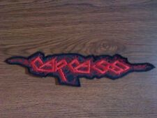 CARCASS,SEW ON RED EMBROIDERED LARGE BACK PATCH