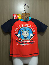 BNWT Boys Sz 2 Thomas The Tank Engine Short Sleeve Swimming Rash Vest UPF 50+