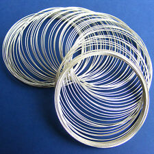 Memory Wire 60 Coils - 55mm x 0.6mm Silver Plated Steel - Bracelets and Bangles