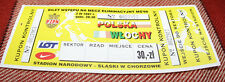 Ticket for collectors World Cup q * Poland - Italy 1997 in Chorzow