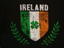Ireland Shield Insignia Europe Country Fan Souvenir Soft Black T Shirt M