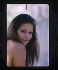 CLAUDIA CARDINALE LOVELY BARE BACKED GLAMOUR PHOTO ORIGINAL 35MM TRANSPARENCY