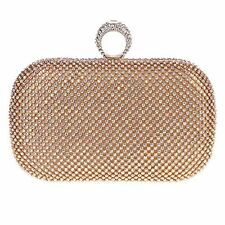 Fawziya® Ring Clutch Purse Crystal Rhinestone Clutch Evening Bag-AB Gold