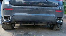 BMW X6 E71 Rear Bumper spoiler flaps + Diffuser skirt elerons M Power M-Tech X6M