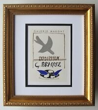 Georges BRAQUE Galerie Maeght Exposition Poster BIRDS Framed SIGNED COA