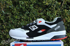 NEW BALANCE 1600 SZ 10.5 BLACK WHITE DARK GREY RED ORANGE CM1600RA