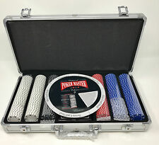 Professional Poker Master Collection Poker Chip Set Including Case VGC SMI