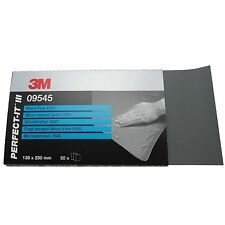 3M 02048 P1500 Grit Microfine Abraisive Sand Paper Wet & Dry 50 Sheets 138x230mm