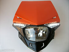 UFO KTM ORANGE ROAD LEGAL HEADLIGHT ENDURO SX EXC XCF SXF LC4 EGS DUKE SMR EXF
