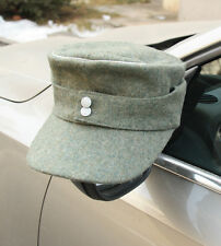 WWII GERMAN OFFICER WH EM M43 PANZER WOOL FIELD CAP GREEN SIZE XL