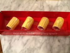 Mini salt and pepper shakers corn on the cob set of 4 ceramic -Boston Warehouse